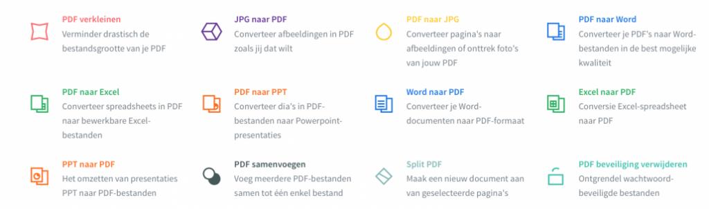 via smallpdf eenvoudig werken met pdf-bestanden